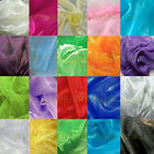 "4YDS ANY COLORS SHEER MIRROR ORGANZA STIFF FABRIC 60""W for WEDDING DRAPE DECOR"