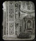 Glass Magic Lantern Slide PALERMO CHURCH OF CASA PROFESSORE SICILY C1890 ITALY