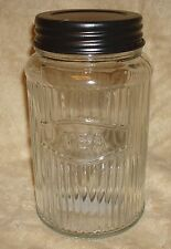 Unique Primitive  Rustic Hoosier Kitchen Cabinet Mfg. Co Glass TEA Canister
