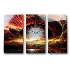 Sonnenwind XXL Designer Wanduhr Funkuhr leise modernes Design *Kreative Feder