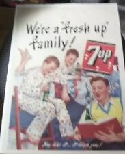 Vintage 7-UP SODA PROMOTIONAL STORE Window Sign 1948 Dad Sons Story