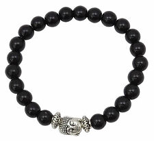 Stretchable Onyx Beads Bracelet Reiki Gemstones Fashionable Jewelry Wrist Wear
