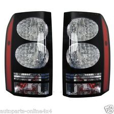 Land Rover Discovery 3 & 4 Rear BLACK LED Tail Light Lamps Pair LR052395/7