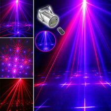 SUNY IR Remote RB Laser XMas Projector DJ Stage Party Bar Light Double Patterns