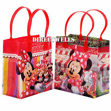 6 Pcs Minnie Mouse Authentic Licensed Small Party Favor Goodie Loot Gift Bags