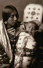 Mother & Child Great Spirit's Gift Apsaroke Crow Indian Native American Postcard