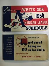 1953 Official Schedule of the National League Compliments Cincinnati Reds