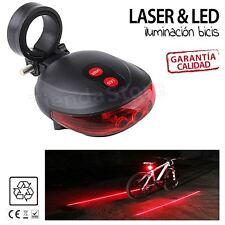 Led bici Luz Trasera. Laser y Led bicicleta señalizacion e iluminacion.