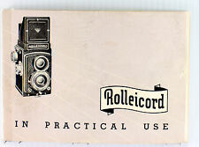 Original Rolleiflex Rolleicord III Manual - in English, August 1952, 54 pages