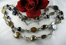 """Gorgeous 52"""" LONG Glass Beaded Necklace  FERAL  CAT RESCUE"""
