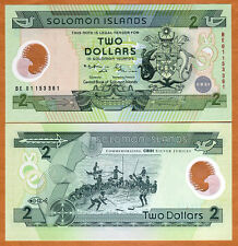 Solomon Islands, $2 (2001),  Pick 23, POLYMER, UNC   Commemorative