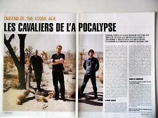 COUPURE DE PRESSE-CLIPPING :  QUEENS OF THE STONE AGE [4pages] 2002 Josh Homme