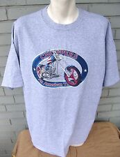 American Choppers Motorcycle USA Patriotic Flag Grey T-Shirt Size XXL