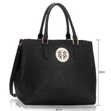Women's Large Designer Faux Leather Celebrity Shoulder Bags Tote Handbags