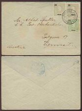 PORTUGAL MADEIRA 1907 FUNCHAL 20R + 20R + 10R to AUSTRIA VERY FINE USED