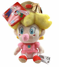 "NEW AUTHENTIC Super Mario Bros Series - 5"" Baby Peach Stuffed Plush Toy Doll"