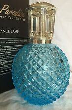 LAMPE BERGER STYLE FRAGRANCE LAMP ICE BLUE DIAMOND STUD GLASS, SILVER TOP, NEW