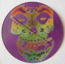 CANDY SKULL  record WALL Clock....music.TRIBAL.festivals.gong.MISFITS.