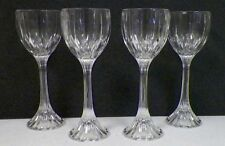 "MIKASA PARK LANE CRYSTAL WINE HOCKS SET OF FOUR (4) 8 1/4"" TALL EUC"