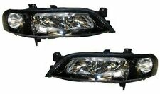 black clear finish look headlights front lights for Opel Vectra B 99-02
