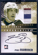 JOE SAKIC 08/09 ITG SUPERLATIVE 4C PLUS NUMBER PATCH AUTO /9  * HARD SIGNED