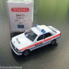 Mercedes Benz Polizei C 200. Wiking HO 1:87 #2071