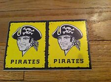 Vintage Pittsburgh Pirates Baseball Stickers Major League Old Logo sticker sheet
