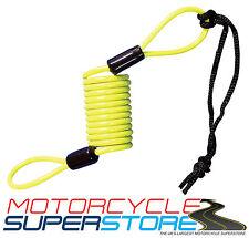 Disco para bicicleta de Scooter Moto Motocicleta De Seguridad Bloqueo de Cable Cable de recordatorio