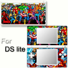 Spider Man Captain America Iron Man Avengers SKIN STICKER COVER for DS Lite