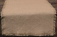 BURLAP TABLE RUNNER 13X36 IN NATURAL TAN THIN LIGHT-WEIGHT COTTON PRIMITIVE