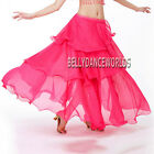 SEXY BELLY DANCE COSTUME CHIFFON RUFFLE SKIRT 9 COLORS