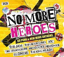 NO MORE HEROES - 60 PUNK & NEW WAVE ANTHEMS - 3 CDS - NEW AND SEALED