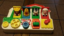Pop Up Pals Tractor Fisher Price Toy Poppin Farm Barn Animals Boys & Girls
