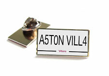 ASTON VILLA NUMBER PLATE STYLE LAPEL PIN BADGE TIE TACK GIFT