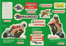 2006 Marco Melandri + Toni Elias Castrol Honda RC211V MotoGP Decal Sticker Sheet