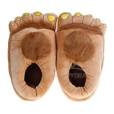 Fun Hairy Unisex Savage Monster Hobbit Feet Plush Out/Indoor Home Slippers Gift