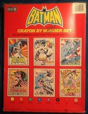 Batman Crayon Color By Number Set NEW Comic Book style 1989 CraftHouse