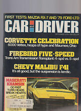 Car and Driver Magazine September 1978 Corvette Firebird Chevy Malibu Maserati