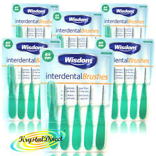 6x Wisdom Interdental Brushes Green Medium 0.8mm