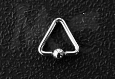 PIERCING TRANGOLO, ACCIAIO CHIRURGICO - TRIANGLE BALL CLOSURE RING, SURGICAL S.
