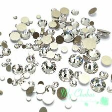 144 pcs Mixed Sizes Swarovski 2058/2088 Flatbacks No-Hotfix clear CRYSTAL (001)