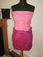 LULU & RED designer mini SKIRT 8-10 NEW pin-up fuchsia pink sexy party