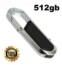 512GB BLACK STYLISH FOLDABLE KEYCHAIN USB 2.0 FLASH DRIVE MEMORY STICK
