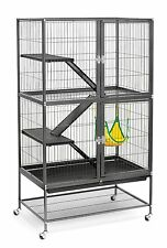 Ferret/Rabbit Cage W/Stand (Black Hammertone) Animal Hutch Habitat Pet Supplies