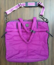 LULULEMON FAST IN FLIGHT Hot Pink Tote Gym Yoga Bag IN EXCELLENT CONDITION!!!!