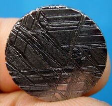 GIBEON meteorite KILLER etched slice 8.16 G. round coin 20x4 mm ETCHED