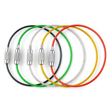 5pcs High Quality Sport Stainless Steel Wire Keychain Cable Key Ring Chains Gift