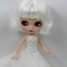 """12"""" Nude Blythe Doll from Factory white short hair matte face joints body sale"""