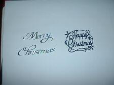 Christmas greetings die cuts x 10