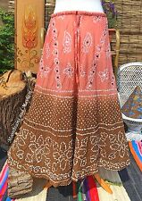 FLOATY NEW INDIAN BOHEMIAN SKIRT UK SIZE 10 / 12 HIPPIE DRESS VINTAGE GYPSY MAXI